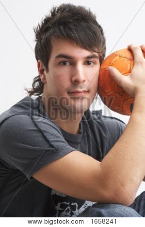 Man With Orange Ball