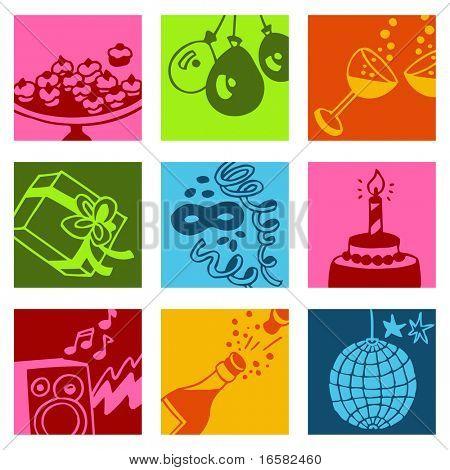 Party Pop-Kunst-