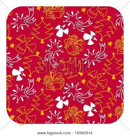 Christmas seamless pattern - illustrations - -