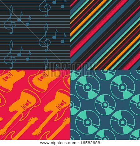 Pop-art Seamless Pattern - Music -
