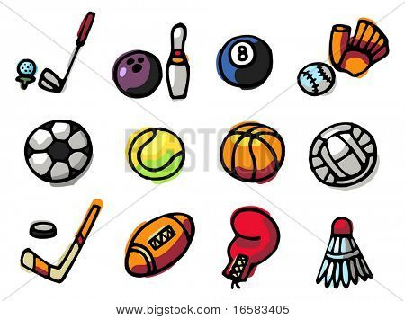 sports icons - illustrations - icons set -
