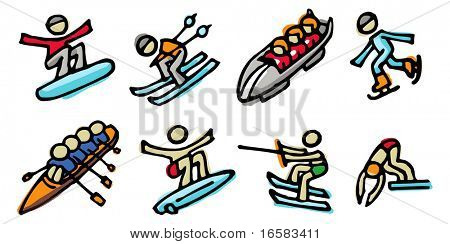 sports illustrations 2- illustrations - icons set -