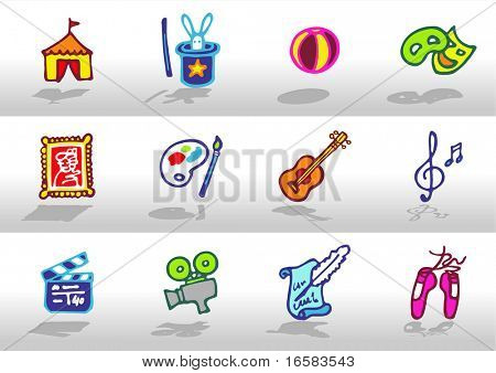 Iconos de las artes-
