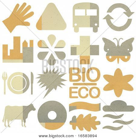 bio & ecology icon set