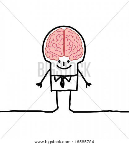 man and brain