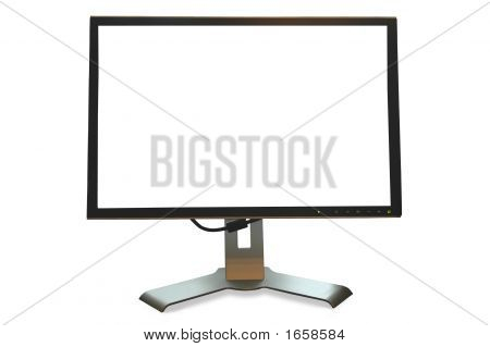 Blank Flat Screen Digital Monitor