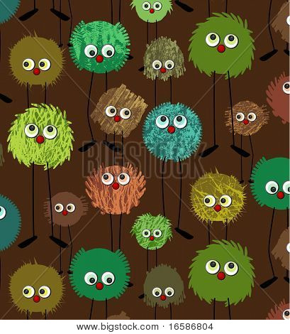monsters brown pattern