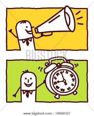 loudhailer & alarm clock