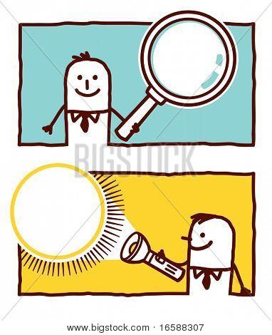 magnifying glass & flashlight