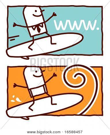 surf on web or wave