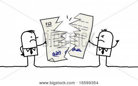 businessmen & broken contract
