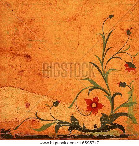 Grunge Blumenmuster mit dekorativen strukturierten Hintergrund