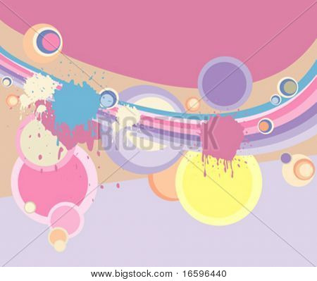 Vector Pastell retro Background with Kreise