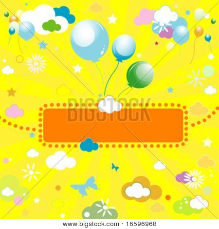 abstract colorful design for kids
