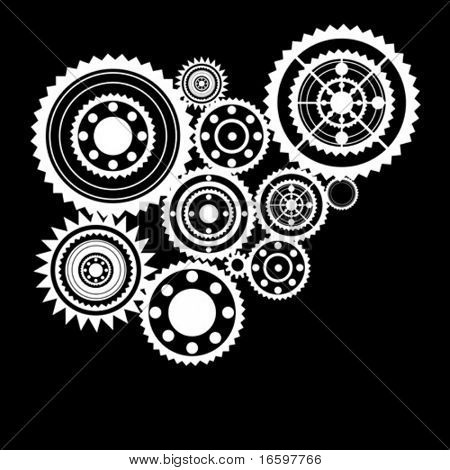 abstract clockwork background, seamless pattern with sprockets