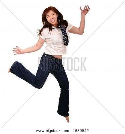 Asian Girl Jumping 2