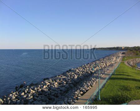 Racine Marina Park And Lake Michigan
