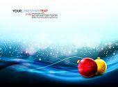 Постер, плакат: Рождественские баннер с реалистка ст шарики и падающие снежинки | Большое пространство для вашего текста