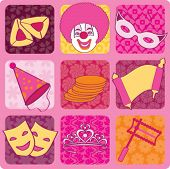 stock photo of purim  - purim icons - JPG