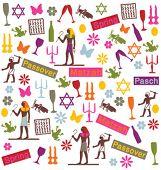 foto of matzah  - passover symbols pattern - JPG
