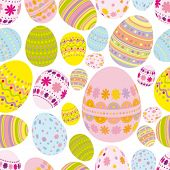 stock photo of pasqua  - Vector Easter Seamless background - JPG