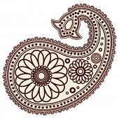 pic of mehndi  - Vector Hand - JPG