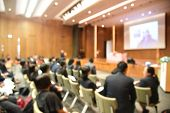 Постер, плакат: Blurred Image Of Education People And Business People Sitting In Conference Room For Profession Semi