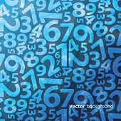 stock photo of numbers counting  - Background with numbers - JPG