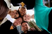 stock photo of team building  - business team work in an office environment  - JPG