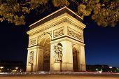The international landmark the Arc de Triomphe in Paris poster