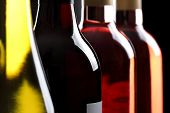 image of wine bottle  - Red white and ros - JPG