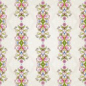 Постер, плакат: Vector Seamless Pattern With Floral Ornament