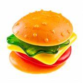 Постер, плакат: Jelly Burger On White