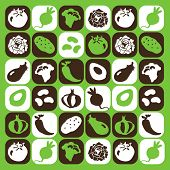 Vegetables checked pattern