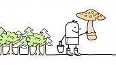 image of planting trees  - mushrooms picking  - JPG