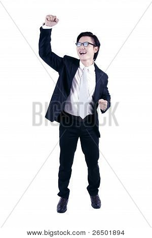 Attractive Asian Businessman Exciting