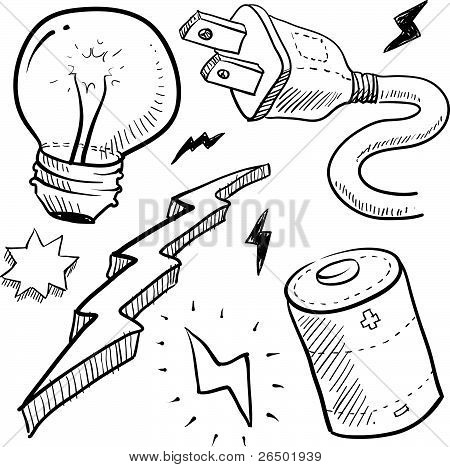 Electricity objects sketch