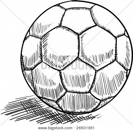 Soccer or futbol sketch