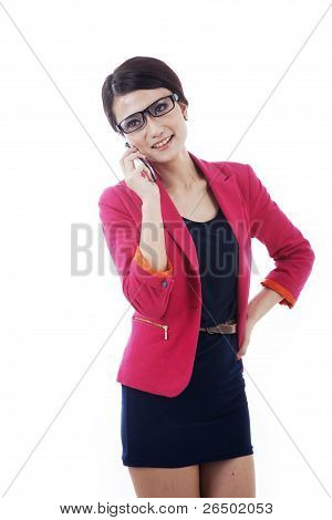 Smart Caucasian Businessoman With Cellphone