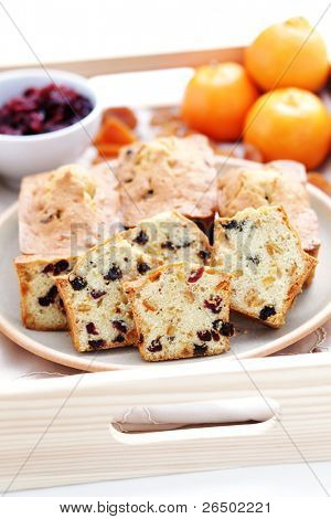 homemade small fruitcakes - sweet food