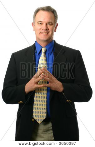 Businessman With Pleasant Expression