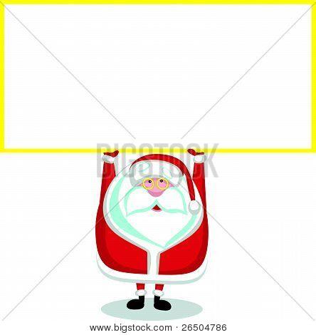 Santa with copy space
