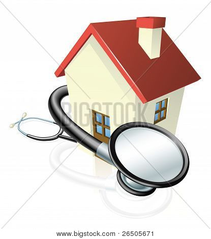 House And Stethoscope Concept