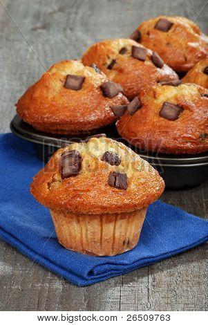 muffins de banana assada doce chocolate