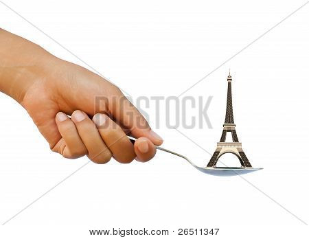 Eiffel tower in spoon