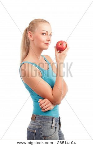 Woman And An Apple