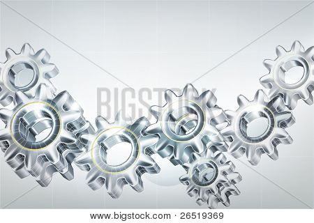 Gears background, bitmap copy