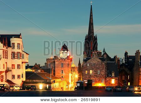 Castlehill - Top Of Edinburgh's Royal Mile. Scotland.