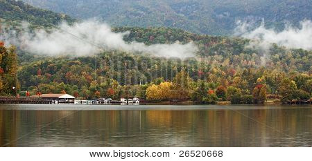 Fall In The Mountains Of North Carolina Panorama