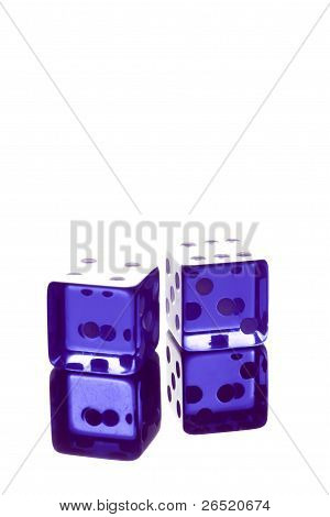 Blue Dice Shot With High Light
